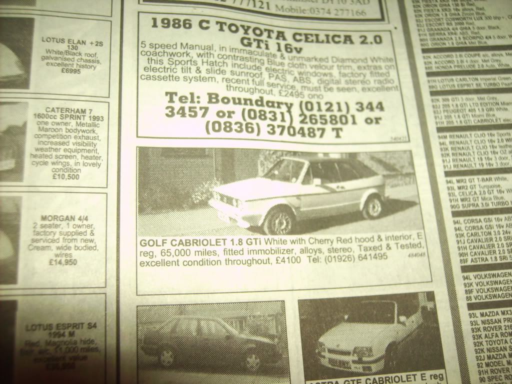 View topic: Found in the loft - 1995 AUTOTRADER :0) – The Mk1 Golf ...