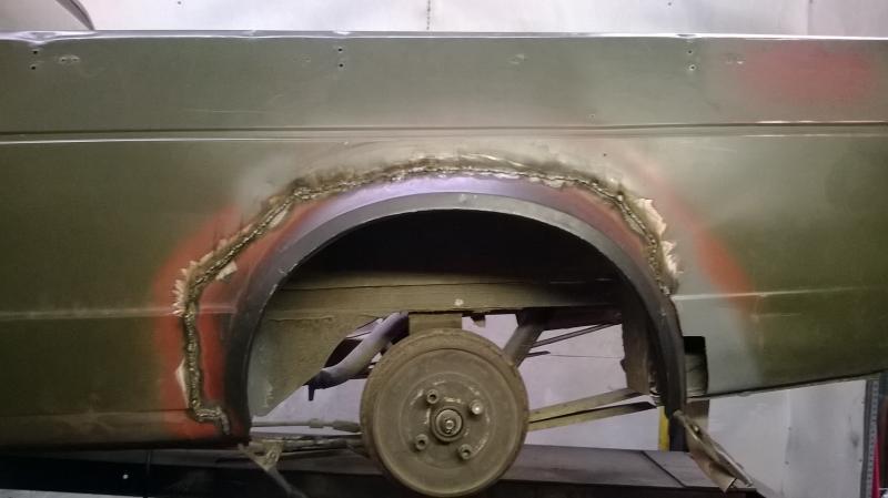 VW Caddy MK1 Pickup Rear Window Bulkhead Repair Panel Outer