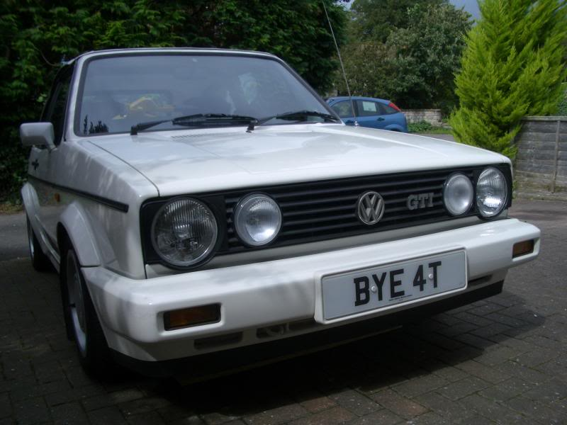 gti not a cabriolet, yours would of come with 4 lights like the top  grill so you might still have the wiring there? grill your car would of  come with